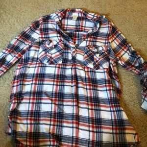 Long sleeved flannel